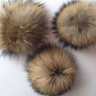 New Detachable Coloured Faux Fur Pom Poms For Hats And Clothes 4