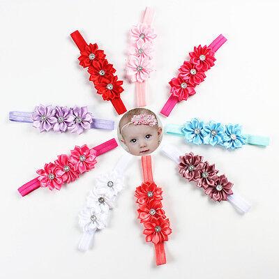 Baby Girls Flower Hairband Soft Elastic Headband Gifts Hair Pin Accessories Band 2