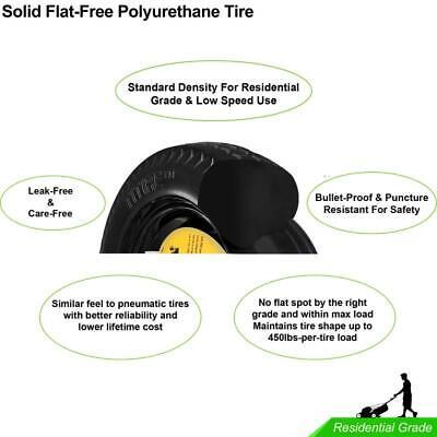 "2 New 10/"" 4.10//3.50-4 Flat Free Tires w//Rim Hub 2.25-4.75 Bore φ5//8/"" /& φ3//4/"""