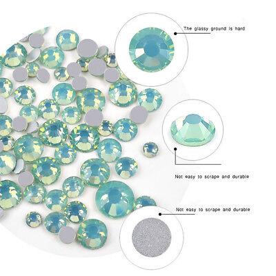 Multi Size Opal Jelly Nail Rhinestones Crystal Glass Gems For UV Gel 3D Nail Art 8