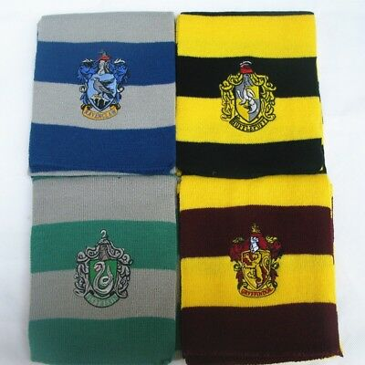 Harry Potter Manteau écharpe Krawatt Gryffindor Slytherin Ravenclaw Cape Costume 7
