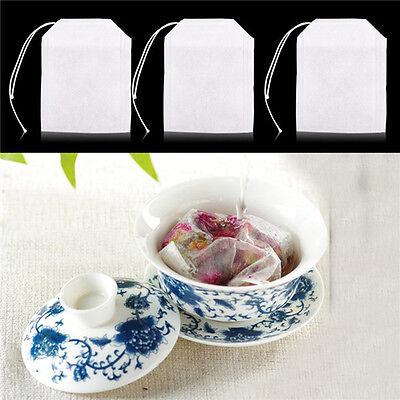 100x vides sacs à thé ficelle chaleur filtre papier filtre à thé sachets de thé^ 3