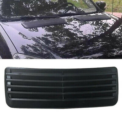 Sturdy Car Decorative Air Flow Intake Hood Scoop Cover Carbon Fiber 47x18cm ABS