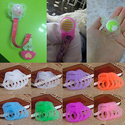 5Pcs Silicone Button Baby Dummy Pacifier Holder Clip Adapter for MAM Rings 2