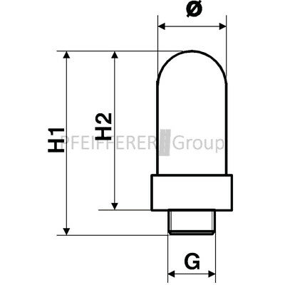 Pneumatik Kunststoff J-SD3-3/8-VY Vyon-Schalldämpfer 2