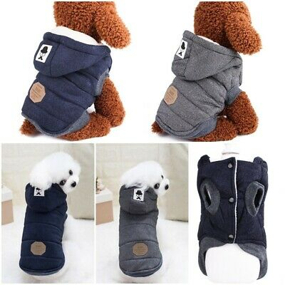 Winter Dog Coats Pet Cat Puppy Chihuahua Clothes Hoodie Warm for Small Dog S~XXL 2