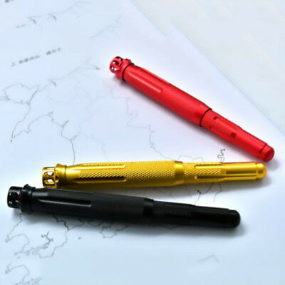 Fuliwen 015 Alumium Fountain Pen Rotating Ruby Pen Top EF/F/M with Pen Bag & Box 2