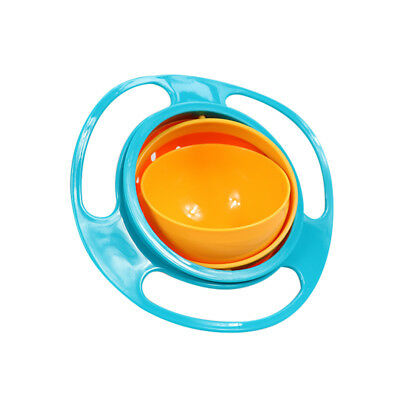 Baby Kids Infant Feeding Dishes Gyro Bowl Universal 360 Rotate Spill Proof Bowl 9