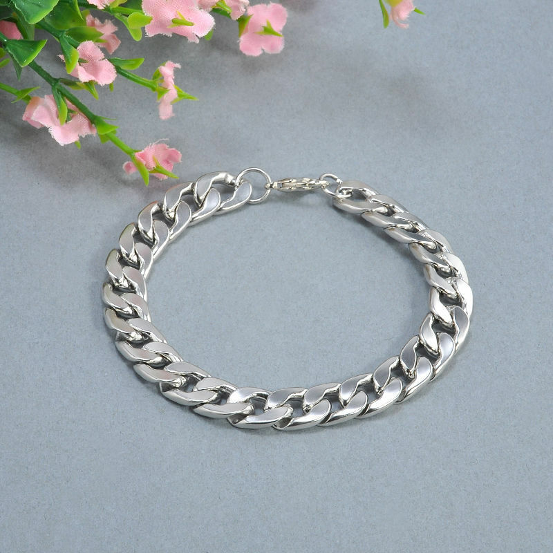Men's Stainless Steel Silver Chain Link Bracelet Wristband Bangle Jewelry Punk 8