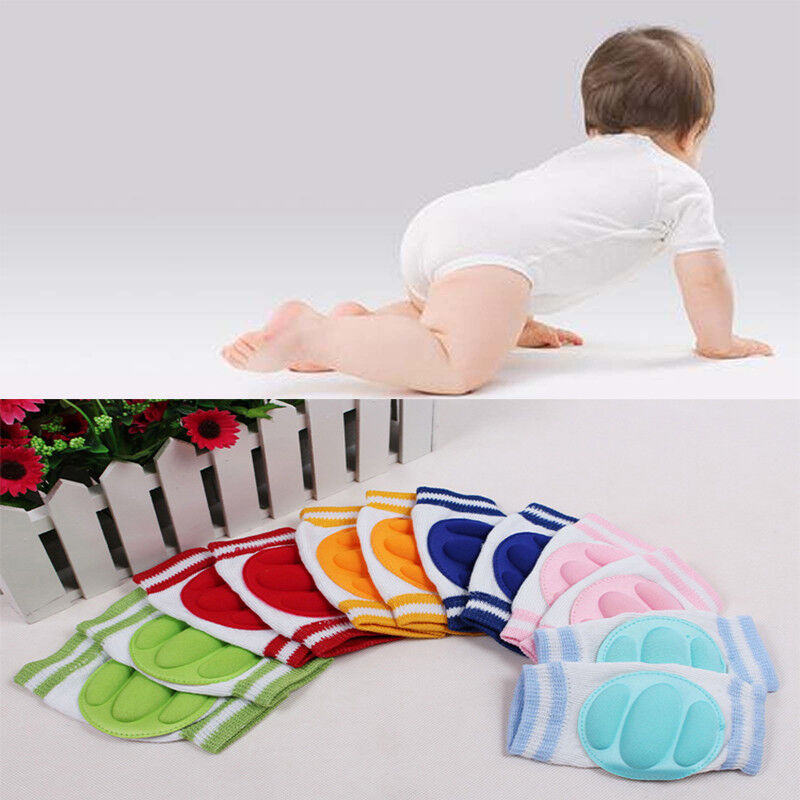 Newly Baby Kids Safety Crawling Elbow Cushion Infant Toddler Knee Pads Protector 7