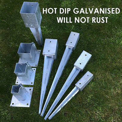 heavy duty galvanised bolt down fence post spikes 4