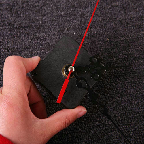 DIY Quartz Movement Mechanism Clock Black and Red Hands Part Kit Tool New 2