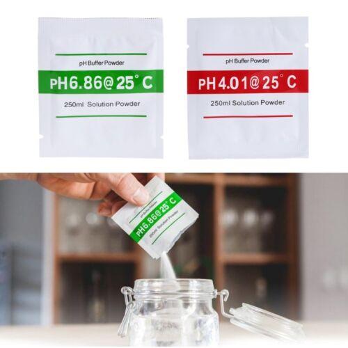 20 Pcs PH Solution Tampon Poudre PH Pour Test Meter Mesurer Etalonnage 4.01 6.86
