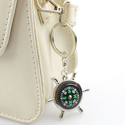 Unisex Fashion Compass Metal Car Keyring Keychain Key Chain Ring Keyfob 7