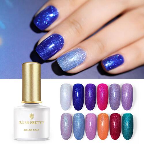 BORN PRETTY UV LED Glitter Sequins Gel Nail Polish Soak Off Topcoat Varnish 6ml 7