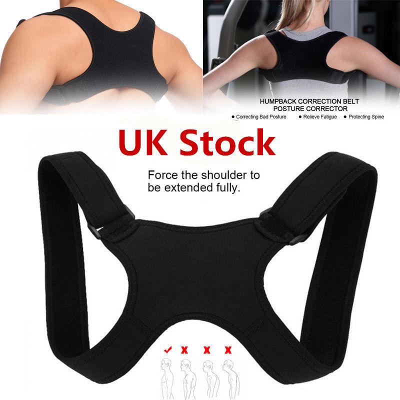 Women Men Posture Corrector Body Brace Bad Back Lumbar Shoulder Support Belt 2