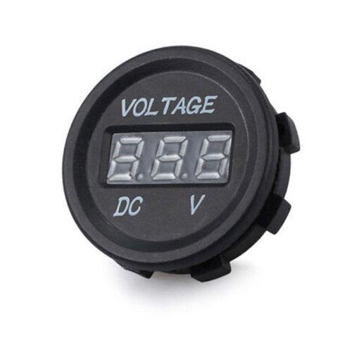 5-48V car marine motorcycle led digital voltmeter voltage meter battery gauge~OY 3