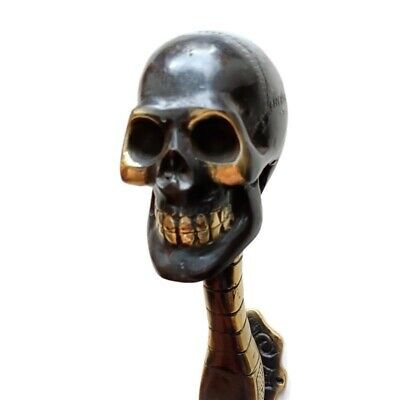 "Massive Skull Hook Solid Hollow BRASS 8 "" 20 cm day of the dead B 3"