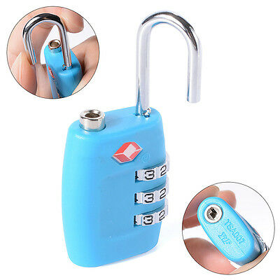 TSA Resettable 3 Digit Combination Lock Travel Luggage Suitcase Lock Padlock SA 4