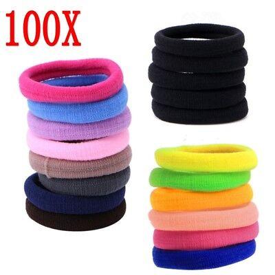 Lots 50/100Pcs Girls elastic hair ties band rope ponytail bracelets scrunchie 3