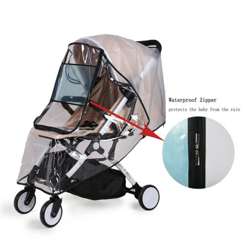 Universal Waterproof Zipper Plastic Non Toxic Rain Cover For Baby Stroller Clear 6