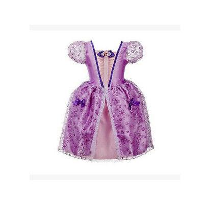 Belle Filles Robe de Princesse Déguisement Rapunzel  Cendrillon Sofia Cosplay 12
