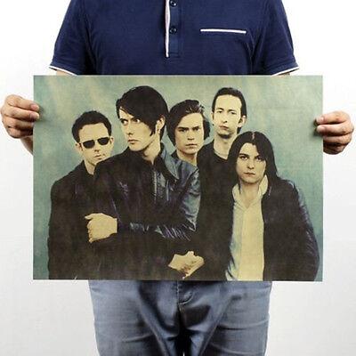 Pop Music Rock Band Stars Retro Kraft Paper Poster Bar Pub Wall Decor 4