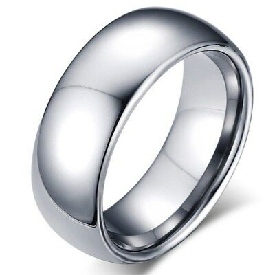 2/3/4/6/8mm Silver Band Men Women's 316L Stainless Steel Engagement Ring Sz 5-13 2