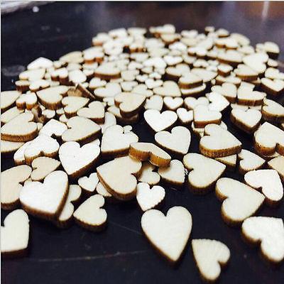 100x rustique en bois amour coeur table de mariage Scatter décoration