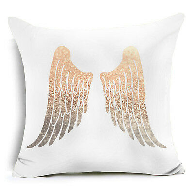 Gold Shining Printed Polyester Throw Pillow Case Sofa Cushion Cover Home Decor G