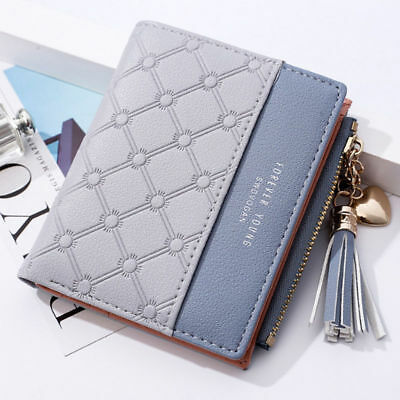 Fashion New Wallet Women Coin Bag Leather Lady Simple Bifold Small Handbag Purse 12