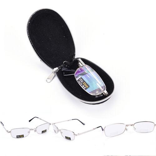 Gafas de lectura metal Snap plegable con case +1.0 +1.5 +2.0 +2.5 +3.0 +3.5EE 2