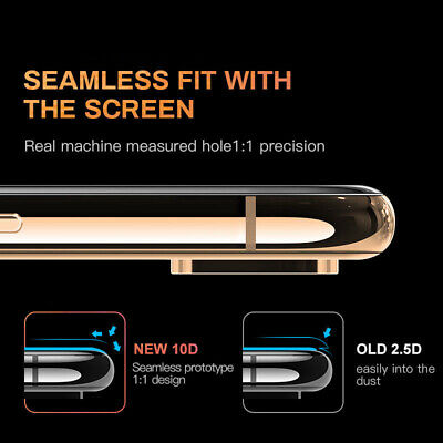 For IPhone X XS MAX XR 8 7 6 10D Full Cover Real Tempered Glass Screen Protector 9