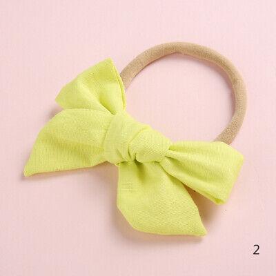 Baby Kids Toddler Soft Cotton Bow Tie Ring Nylon Headband Girls Hair Accessories 9