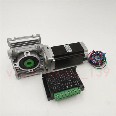 Nema23 3NM Stepper Motor Driver Kit 4.2A & Worm Gearbox Speed Reducer 30:1 CNC 7