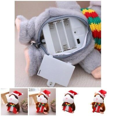 Cheeky Hamster Talking Mouse Pet Christmas Toy Speak Sound Record Hamster SL
