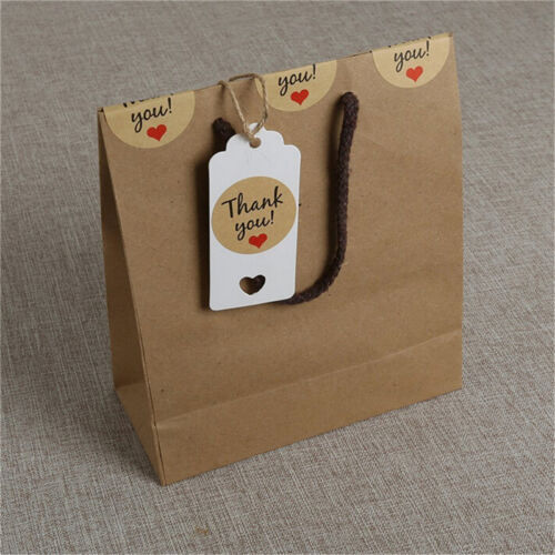 100pcs Blank Kraft Paper Hang Tags Wedding Party Favor Label Price Gift Card SS 10