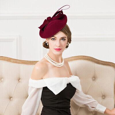 Ladies Felt Wool Fascinator Cocktail Formal Wedding Bridal Hat Headpiece CK024 5