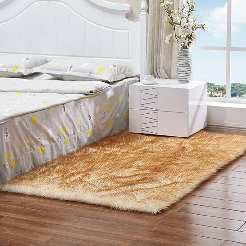 Fluffy Rugs Shaggy Area Rug Anti-Skid Bedroom Carpet Floor Mat Home Dining Room 12