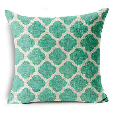 Bohemian /& Moroccan Geometric Cotton Linen Pillow Case Square Cushion Cover