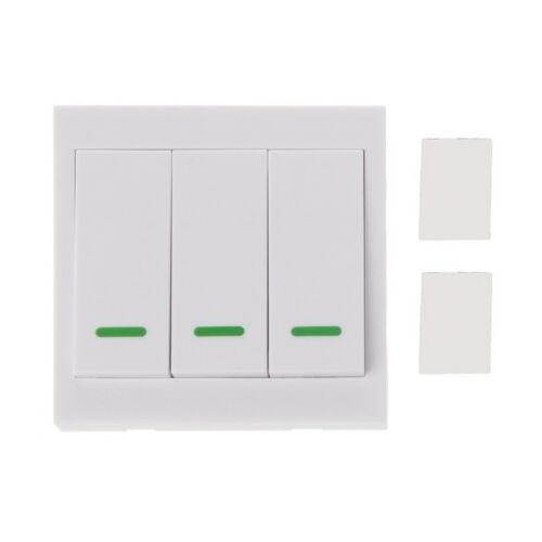 433MHz RF Wireless Remote Control Switch 86 Wall Panel Transmitter 3 2 1Button 4