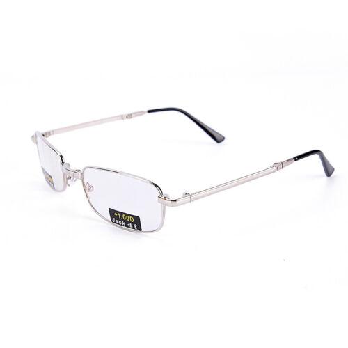 Gafas de lectura metal Snap plegable con case +1.0 +1.5 +2.0 +2.5 +3.0 +3.5EE 10