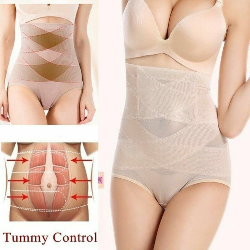 Women's High Waist Shapewear Body Shaper Firm Control Panties Slimming Knickers 6