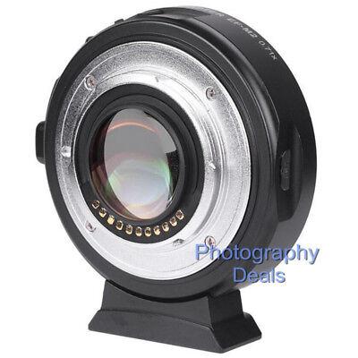 Viltrox EF-M2 II AF Adapter Focal Reducer Booster For Canon EF Lens to M43 MFT 4