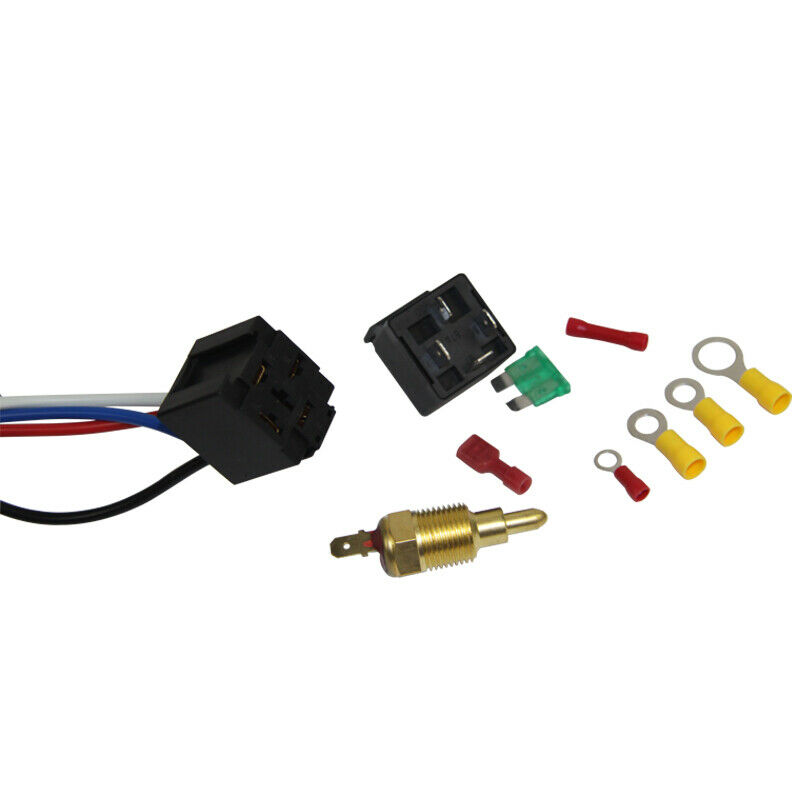 Electric Cooling Thermostat Relay Fan Kit Sensor Temperature Switch Wiring 6