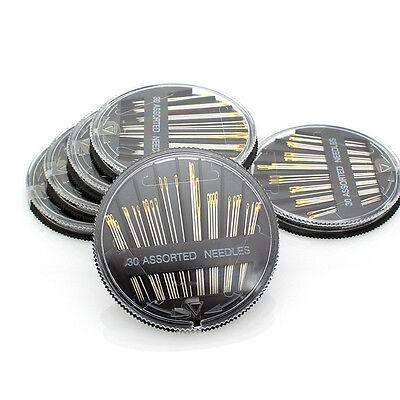 Sortiment Feine Nadeln 30 Stück B9Q5 Nähnadeln mit Goldöhr