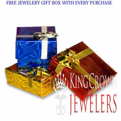 Genuine Diamond KIng Tut Egyptian Pharaoh Charm White Gold Tone Pendant 2.35'' 4