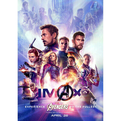 Avengers 4 & 3 Infinity War Movie Thanos Iron Man Kraft Paper Posters Picture 3