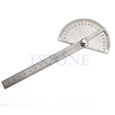 New Stainless Steel 180 degree Protractor Angle Finder Arm Measuring Ruler Tool 5