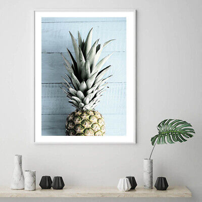 Pineapple Ocean Beach Canvas Poster Seascape Print Tropical Decoration Picture 5
